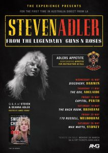 From the archives: Steven Adler Experience @ The Backroom, Brisbane 19/05/2018